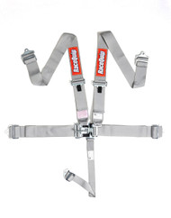 Racequip Racing Harness 5 pt. Silver/ Platinum Belts