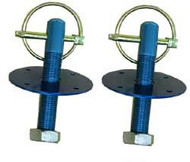 Hood Pins Pair Blue