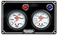 QuickCar Two Gauge Black Panel-61-6701