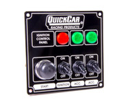 QuickCar Ignition Control Panel Black-3 Switch