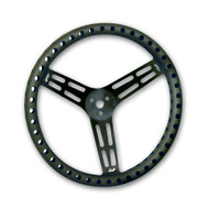 "Black 15"" Drilled Steering Wheel"