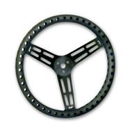 """Black 15"""" Drilled Steering Wheel"""