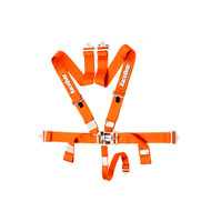 Racequip Racing Harness 5 Pt. Orange Belts