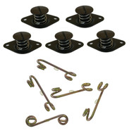 """7/16"""" Aluminum Quarter Turn Buttons with Springs Black"""
