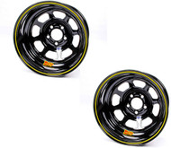 AERO 15 X 8 Black Wheel 52 Series PAIR