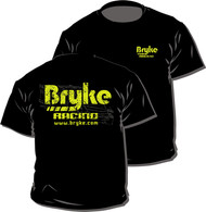 Bryke Racing  Black T-Shirt Yellow Writing