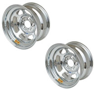 AERO 15 X 8 Chrome Wheel 52 Series PAIR