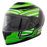 Zamp FR-4 Graphic Go-kart Helmet Green