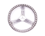 "Longacre 15"" Aluminum Drilled Steering Wheel"