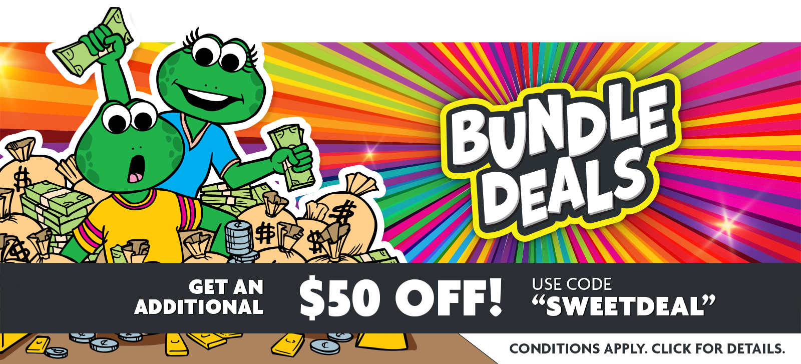 Get an additional $50 OFF Bundle Deals through September 30!