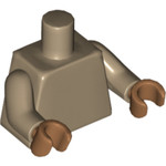 Lego Torso Plain Dark Tan