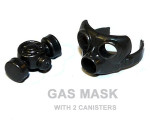 Gas Mask with 2 Canisters