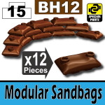 Modular Sandbags (BH12) - Brown