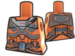 Torso Orange with Armor Pattern