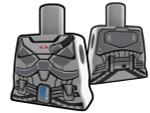 Torso Gray with Armor Pattern