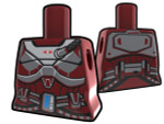 Torso Dark Red with Armor Pattern