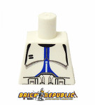 Custom Printed Lego Minifigure Torso - Blue Trooper