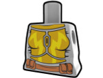 Torso Gray with Yellow Battle Suit