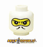 - Custom Printed Lego Minifigure Head - White Balaclava