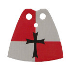Crusader Red Standard Cape with Cross