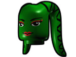 Tentacle Head with Face Pattern - Green