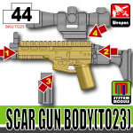 SI-DAN Dark Tan SCAR Gun Body (TO23)