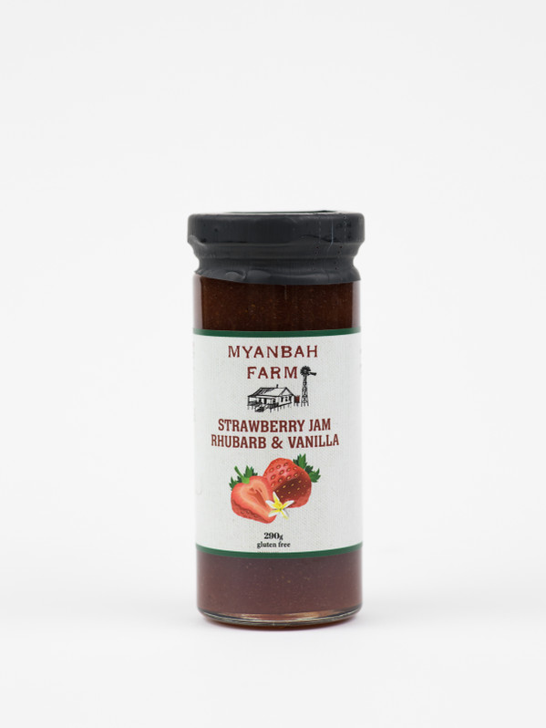 Strawberry, Rhubarb & Vanilla Bean Jam 290g