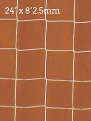 "Precision 24"" x 8' 2.5mm Knotless Polythene net"