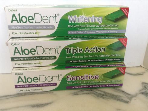 AloeDent Triple Action - Aloe Vera Flouride Free Toothpaste 100ml