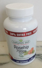 Natures Aid Rosehip Vegicaps 750mg 120 Capsules