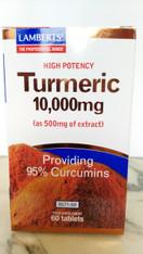 Turmeric 10,000 mg (as 500mg of extract) Providing 95% Curcumins 60 tablets