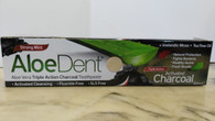 Aloe Dent Aloe Vera Triple Action Charcoal Toothpaste. Fluoride Free 100ml