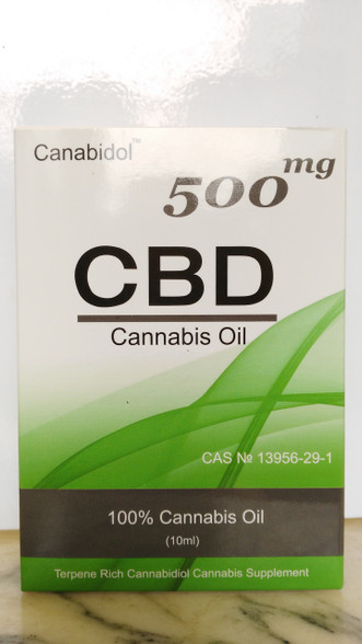 CBD Oil 500mg 10ml 100% Cannabis Oil by Canabidol