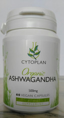 Ashwagandha Organic 500 mg 60 Vegan caps by Cytoplan.