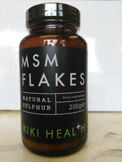 MSM Flakes by Kiki Health 200g in glass bottle 100% MSM