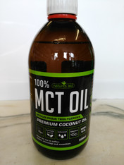 100% MCT  Premium 500ml Coconut Oil by Natures Aid.