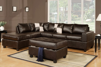 3-PCS SECTIONAL (OTTOMAN INCLUDED) ESPRESSO