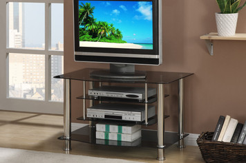 TV STAND, 8MM BELEVED GLASS TOP