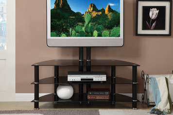 "TV STAND, SUPPORT UP TO 55""/ 110 LBS TV"