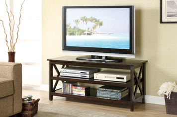 TV STAND, MEDIUM ESPRESSO FINISH