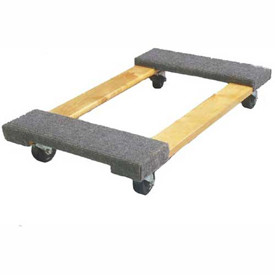 "Fairbanks Hardwood Dolly ED-14-1830-3HR - 30"" x 18"" Open - 3"" Hard Rubber Wheels - 1000 Lb. Cap."