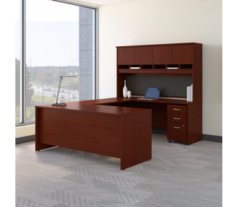 U STATION DESK WITH STORAGE, SERIES C COLLECTION