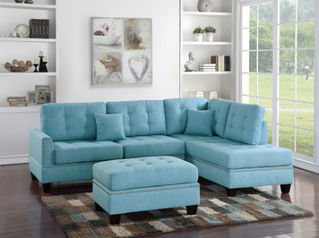 3PCS SECTIONAL BLUE COLOR