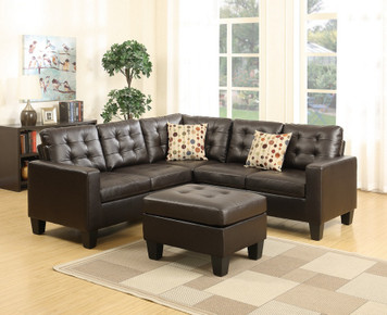 4PC SECTIONAL SET ESPRESSO