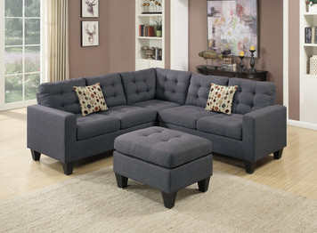 4PC SECTIONAL SET  BLUE GREY