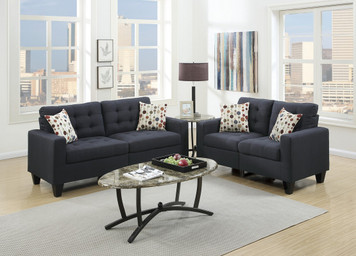 2PC SOFA SET BLACK