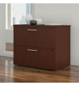 300 SERIES 36W 2 DRAWER LATERAL FILE CABINET, HARVEST CHERRY