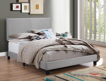 ERIN QUEEN BED GREY