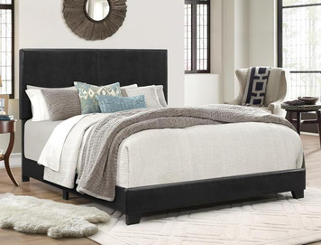 ERIN QUEEN BED BLACK PU