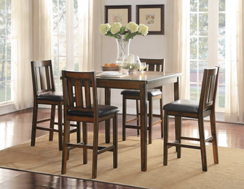 DELMAR COLLECTION 5PC COUNTER HEIGHT DINING SET